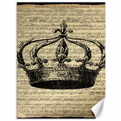 Vintage Music Sheet Crown Song Canvas 36  x 48