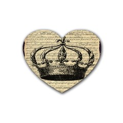 Vintage Music Sheet Crown Song Heart Coaster (4 pack)