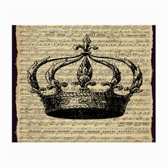 Vintage Music Sheet Crown Song Small Glasses Cloth (2 Side)