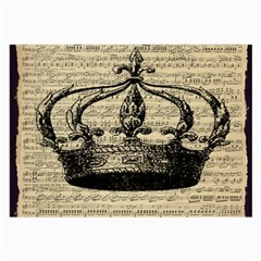 Vintage Music Sheet Crown Song Large Glasses Cloth (2-Side)