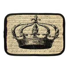 Vintage Music Sheet Crown Song Netbook Case (medium)