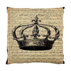 Vintage Music Sheet Crown Song Standard Cushion Case (Two Sides)