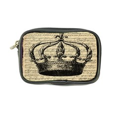 Vintage Music Sheet Crown Song Coin Purse