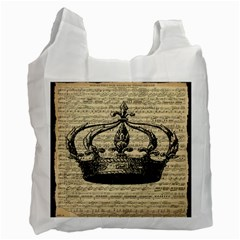 Vintage Music Sheet Crown Song Recycle Bag (One Side)