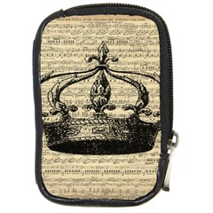 Vintage Music Sheet Crown Song Compact Camera Cases