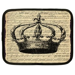 Vintage Music Sheet Crown Song Netbook Case (XL)