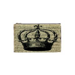 Vintage Music Sheet Crown Song Cosmetic Bag (Small)