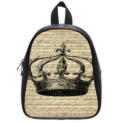 Vintage Music Sheet Crown Song School Bags (Small)