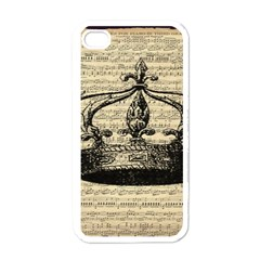 Vintage Music Sheet Crown Song Apple Iphone 4 Case (white)