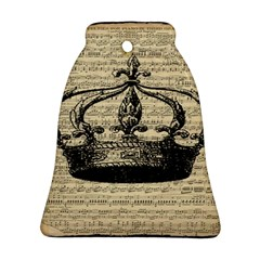 Vintage Music Sheet Crown Song Ornament (Bell)