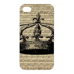 Vintage Music Sheet Crown Song Apple iPhone 4/4S Hardshell Case