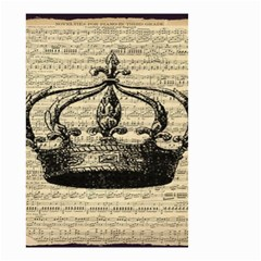 Vintage Music Sheet Crown Song Small Garden Flag (two Sides)