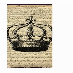 Vintage Music Sheet Crown Song Large Garden Flag (Two Sides)