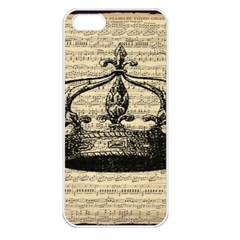 Vintage Music Sheet Crown Song Apple Iphone 5 Seamless Case (white)
