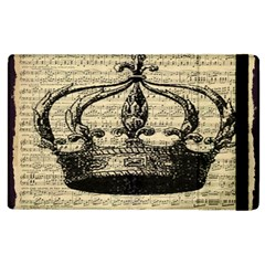 Vintage Music Sheet Crown Song Apple Ipad 2 Flip Case