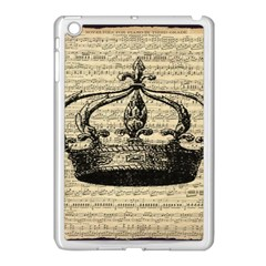 Vintage Music Sheet Crown Song Apple iPad Mini Case (White)