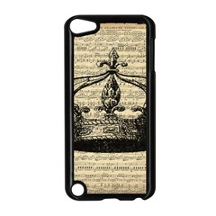 Vintage Music Sheet Crown Song Apple Ipod Touch 5 Case (black)