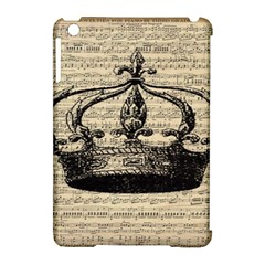 Vintage Music Sheet Crown Song Apple Ipad Mini Hardshell Case (compatible With Smart Cover)
