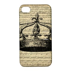 Vintage Music Sheet Crown Song Apple Iphone 4/4s Hardshell Case With Stand