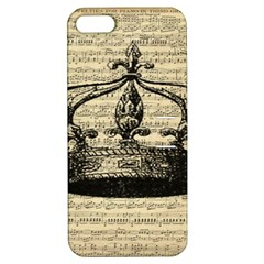 Vintage Music Sheet Crown Song Apple Iphone 5 Hardshell Case With Stand