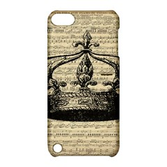 Vintage Music Sheet Crown Song Apple Ipod Touch 5 Hardshell Case With Stand