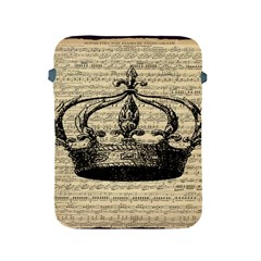 Vintage Music Sheet Crown Song Apple Ipad 2/3/4 Protective Soft Cases
