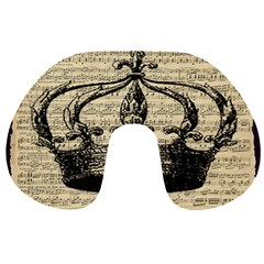 Vintage Music Sheet Crown Song Travel Neck Pillows