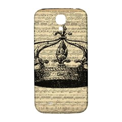 Vintage Music Sheet Crown Song Samsung Galaxy S4 I9500/i9505  Hardshell Back Case