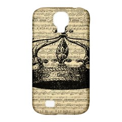 Vintage Music Sheet Crown Song Samsung Galaxy S4 Classic Hardshell Case (pc+silicone)