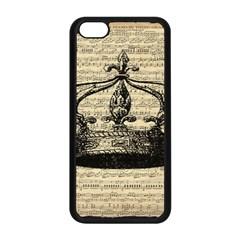 Vintage Music Sheet Crown Song Apple iPhone 5C Seamless Case (Black)