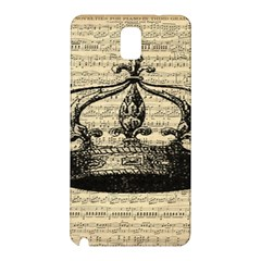Vintage Music Sheet Crown Song Samsung Galaxy Note 3 N9005 Hardshell Back Case
