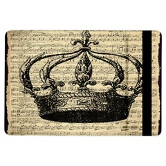 Vintage Music Sheet Crown Song iPad Air Flip