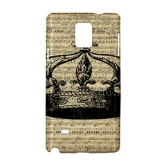 Vintage Music Sheet Crown Song Samsung Galaxy Note 4 Hardshell Case