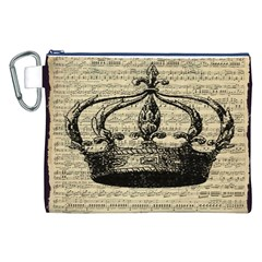 Vintage Music Sheet Crown Song Canvas Cosmetic Bag (xxl)