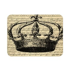 Vintage Music Sheet Crown Song Double Sided Flano Blanket (mini)