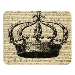 Vintage Music Sheet Crown Song Double Sided Flano Blanket (Large)