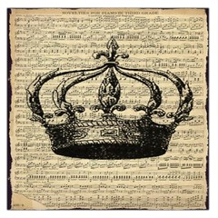 Vintage Music Sheet Crown Song Large Satin Scarf (square)
