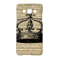 Vintage Music Sheet Crown Song Samsung Galaxy A5 Hardshell Case