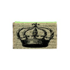 Vintage Music Sheet Crown Song Cosmetic Bag (xs)