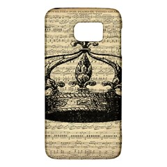 Vintage Music Sheet Crown Song Galaxy S6