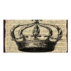 Vintage Music Sheet Crown Song Satin Shawl