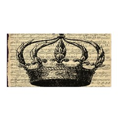 Vintage Music Sheet Crown Song Satin Wrap