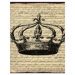 Vintage Music Sheet Crown Song Drawstring Bag (Large)