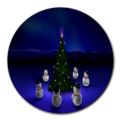 Waiting For The Xmas Christmas Round Mousepads