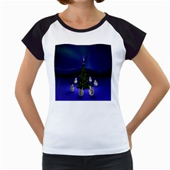 Waiting For The Xmas Christmas Women s Cap Sleeve T