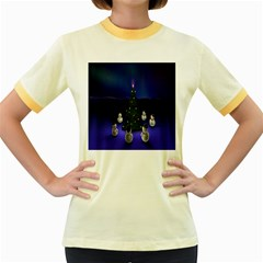 Waiting For The Xmas Christmas Women s Fitted Ringer T Shirts