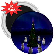 Waiting For The Xmas Christmas 3  Magnets (10 Pack)