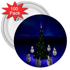 Waiting For The Xmas Christmas 3  Buttons (100 pack)