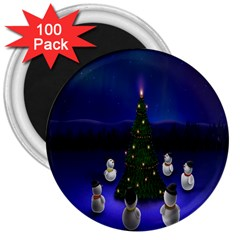 Waiting For The Xmas Christmas 3  Magnets (100 Pack)