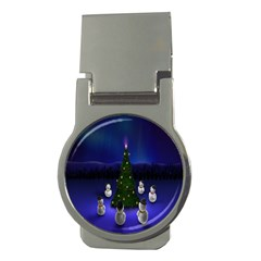 Waiting For The Xmas Christmas Money Clips (Round)